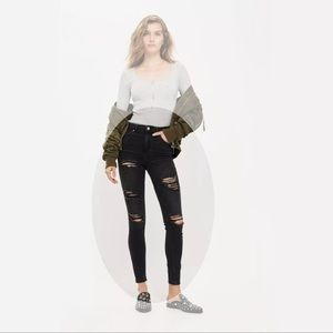 TOPSHOP Super Ripped Jamie Jeans, High Waisted